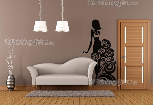 stickers muraux silhouettes fille 2131fr. Black Bedroom Furniture Sets. Home Design Ideas