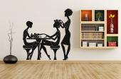 Silhouettes Wall Stickers - Beauty salons offer an array of treatments. Place a decal on a wall of your salon to show what a customer can pay for. It features a hairdresser apply...