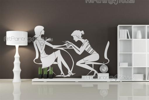 Manicure - Wallstickers Silhuetter