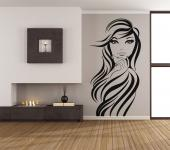 Silhouettes Wall Stickers - The decor of a beauty salon may attract new customers! Apply one of our wall decals on a mirror or on an empty wall. The sticker above shows the face ...