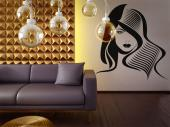Silhouettes Wall Stickers - A hairdresser tends to visualize several haircuts when a customer appears. What about two hairstyles in one? Decorate your hair salon with this wall d...