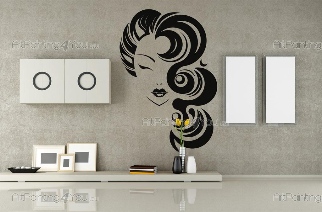 Wall stickers silhouettes hair salon 2392en - Stickers muraux salon ...