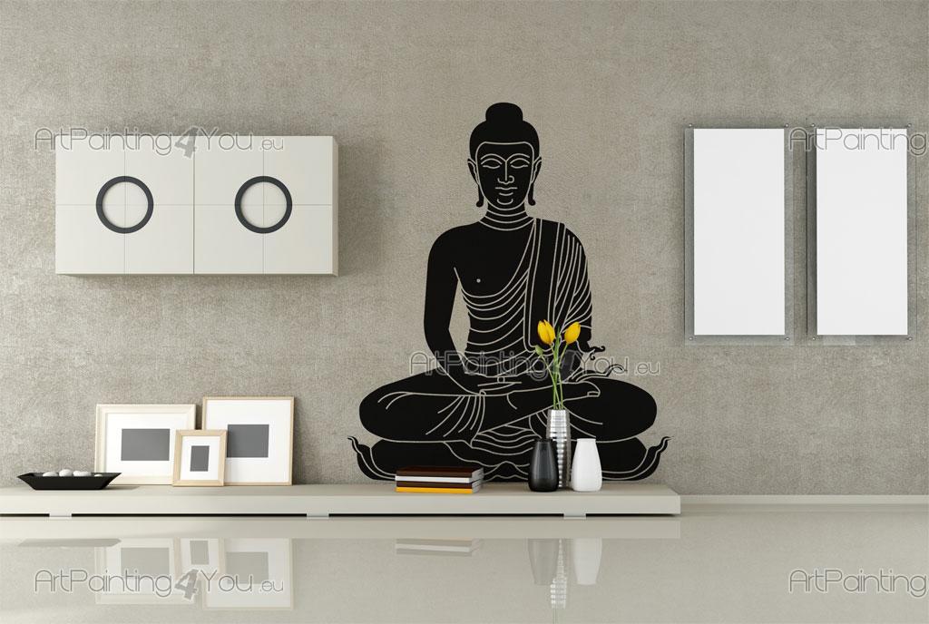 Vinilos decorativos estatua buda - Vinilos decorativos zen ...