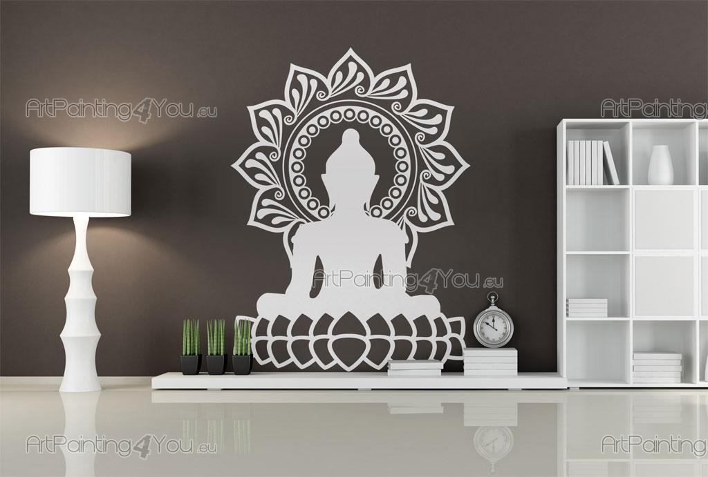 wandtattoo buddha statue vds1079de. Black Bedroom Furniture Sets. Home Design Ideas