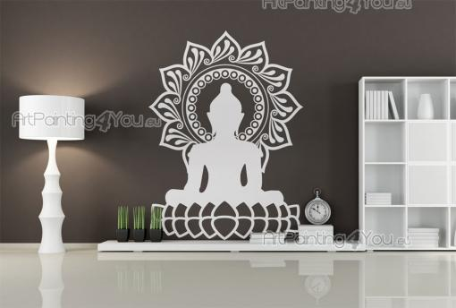Silhouettes Wall Stickers - Do you relate to any principles of Buddhism? Do you often meditate? How about applying a Buddha on a wall of your living room? This wall decal feature...