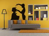 Silhouettes Wall Stickers - Wall decals for hair salons! Let yourself be inspired to create new hairdos by our silhouette stickers. On this one, an experienced hairdresser carefu...