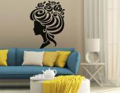 Silhouettes Wall Stickers - Give a touch of finesse to the decor of a studio or hair salon with our wall decals. This sticker, inspired on baroque and vintage trends, features th...