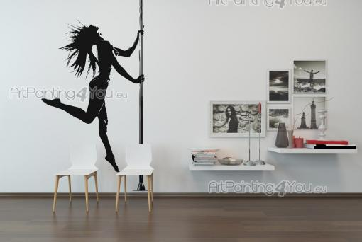 Silhouettes Wall Stickers - Pole dance is no longer regarded as something merely sexy. For many, it's a versatile sport. If you're a pole dance teacher or just dance for sport, d...
