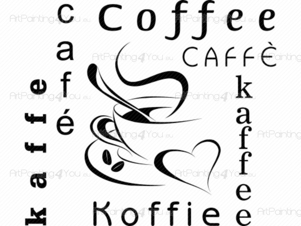 Muurstickers Keuken Koffie : Coffee Wallpaper Border