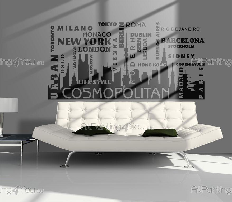 World Cities - Wall decals with the names of the most famous cities and capitals of the world countries