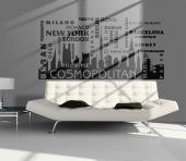Wall Stickers Quotes - Decorate your living room with wall decals with decorative quotes and words. Go for a skyline made of the world's most famous buildings behind the nam...