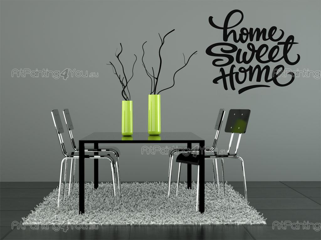 Stickers murali frasi casa dolce casa vdte1013it - Scritte pareti casa ...