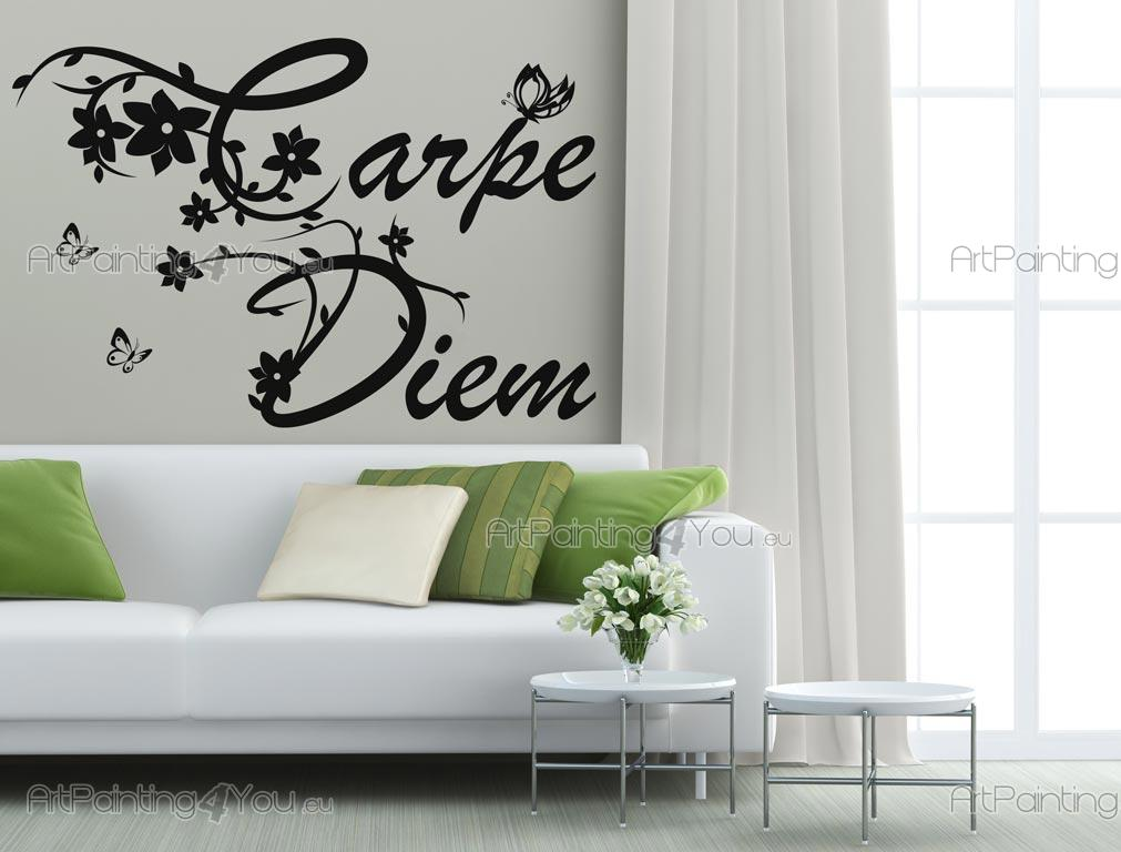 Carpe Diem - Wall stickers with the latin phrase Carpe Diem which means seize the day or enjoy the present