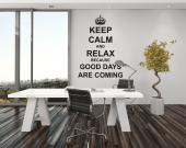 Vinilos Decorativos Frases - Decora tu dormitorio u oficina con frases decorativas de vinilo. Si encuentras motivador el famoso lema Keep calm and carry on, que te pide que manten...