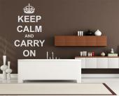 Wall Stickers Quotes - Decorate your bedroom or office with a wall decal of the famous quote, Keep calm and carry on. It used to be a pre-war slogan in the UK, but now it's ...