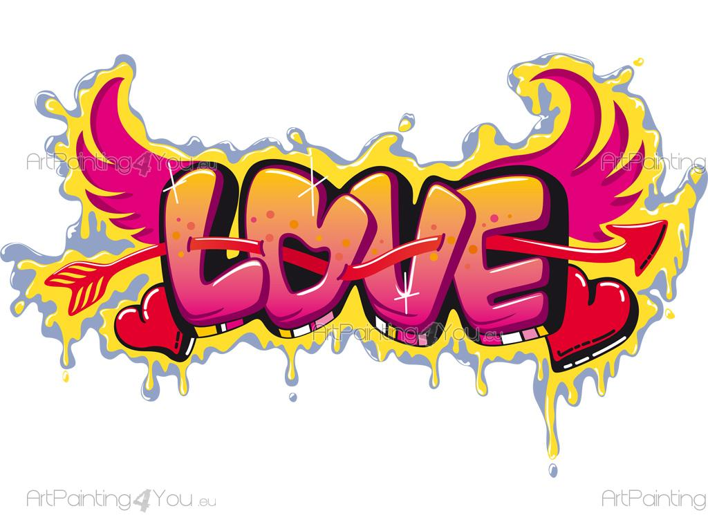 Adhesivos Decorativos Frases Graffiti Love