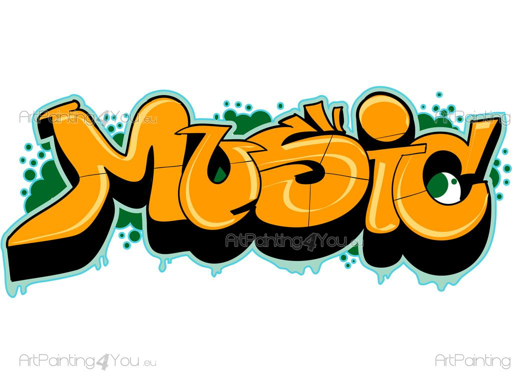 graffiti music wall stickers quotes vdte1021en graffiti music wall decals that contain the word music in effect graffiti to creatively decorate