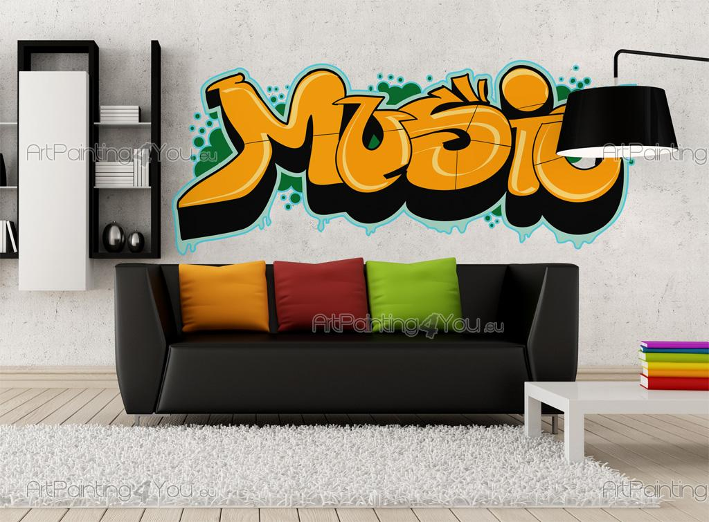 wandstickers spr che graffiti music vdte1021de. Black Bedroom Furniture Sets. Home Design Ideas