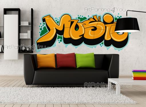 Wall Stickers Quotes - Wall decals with quotes. This sticker is the perfect finishing touch to the decor of a bedroom of a music lover interested in urban arts! This yellow,...