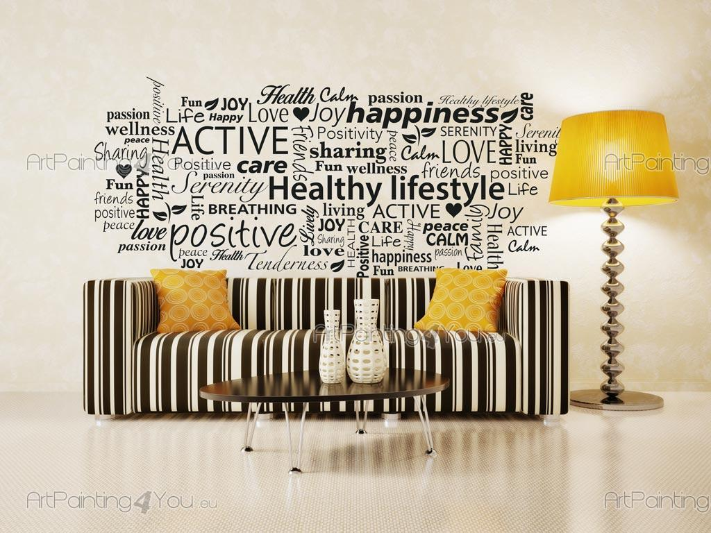 Wall Stickers Quotes Wellness Word Cloud Vdte1023en