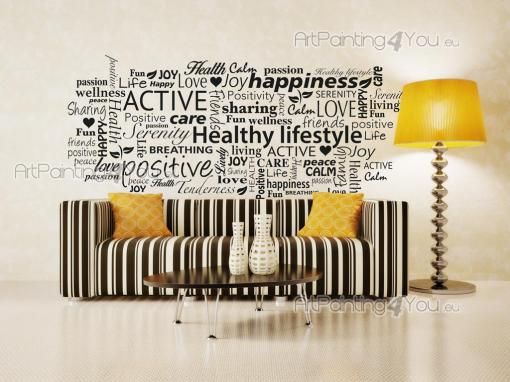 Wall Stickers Quotes - Wall decals with decorative words and sentences. If you own a Spa or an organic food restaurant, then take a look at this sticker with a cloud made of...
