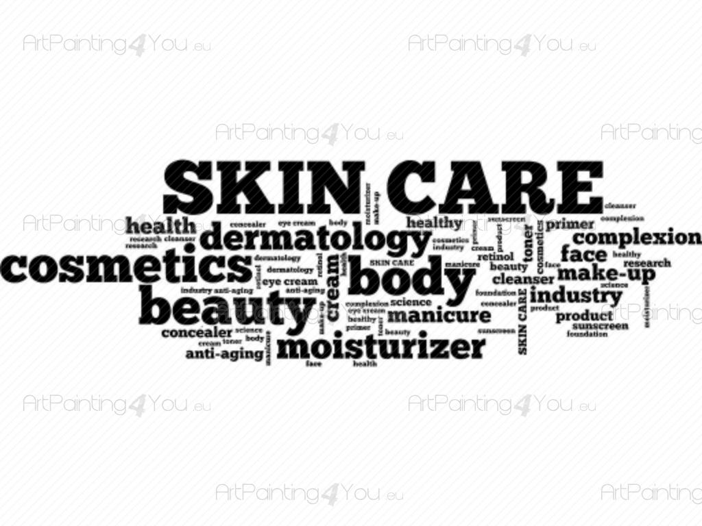 Wall Stickers Quotes Skin Care Word Cloud