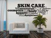 Wall Stickers Quotes - Wall stickers for your Spa, beauty salon or private bathroom. Decorate a wall with a decal of a cloud made of words and quotes on the theme of skin ca...