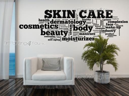 Skin Care word cloud - Wall Decals Quotes