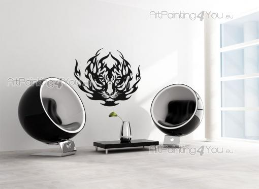 Tiger Silhouette - Tribal Wall Stickers