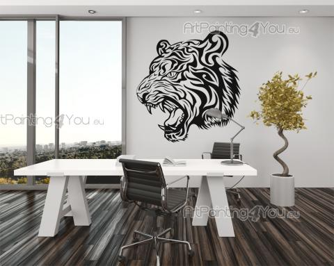 Tiger Silhouette - Animals Wall Stickers