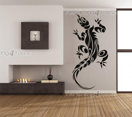Gecko Silhouette - Tribal Wall Stickers