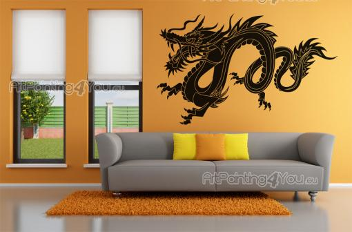 Dragon Silhouette - Tribal Wall Stickers