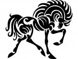 Horse Silhouette - Tribal Wall Stickers