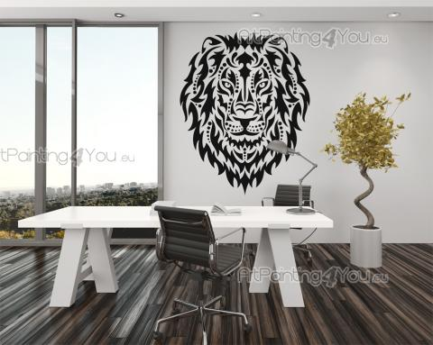 Tribal Lion - Tribal Wall Stickers
