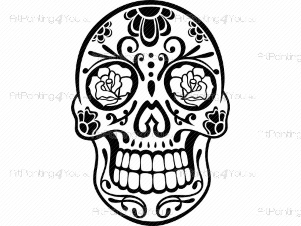 Anspruchsvoll Mexikanischer Totenkopf Galerie Von Mexikanischen Schädel - Wandtattoo Tribal Mexikanischen Schädel
