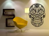 Calavera Mexicana - Vinilos Decorativos Tribal