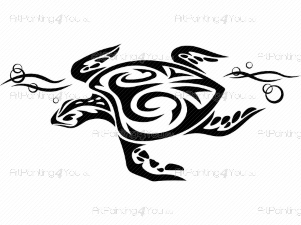 Wall Sticker Pictures Wall Stickers Tribal Turtle Artpainting4you Eu