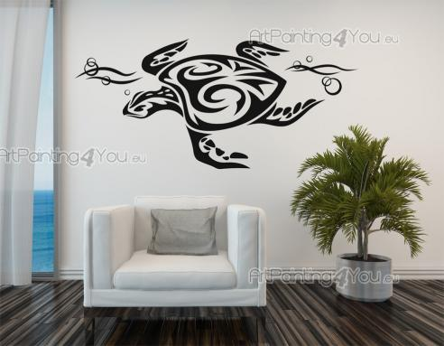 Skilpadde Tribal - Wallstickers Dyr