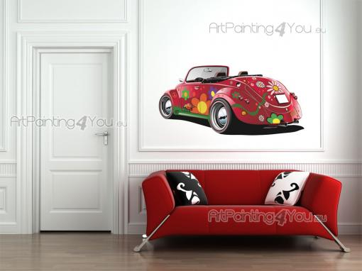 Red Beetle - Cities & Travels Wall Stickers