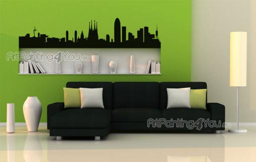 Barcelona Skyline - Cities & Travels Wall Stickers