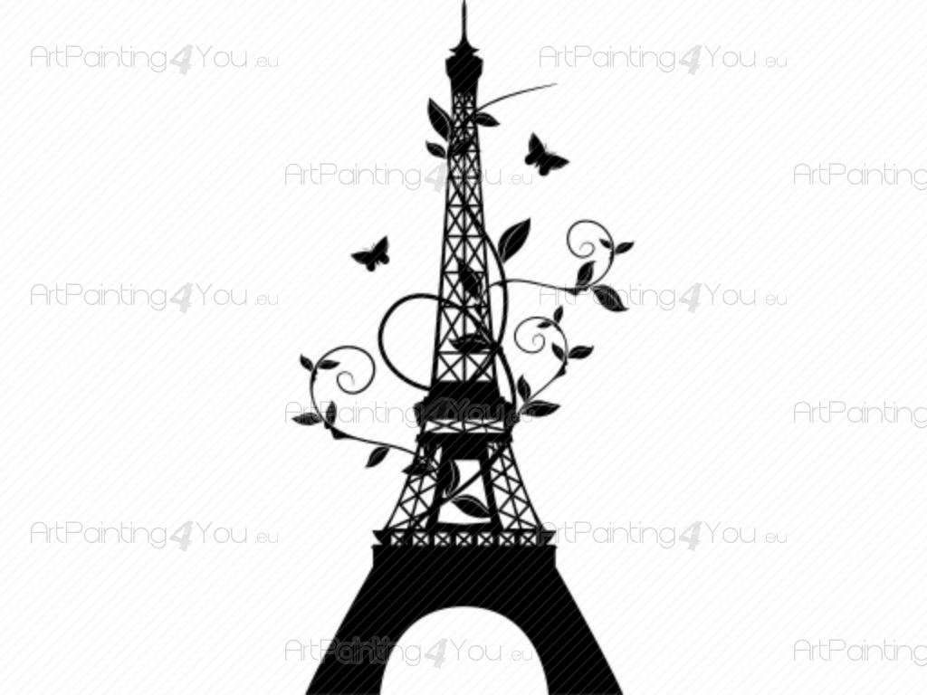 wall decals eiffel tower vdv1018en. Black Bedroom Furniture Sets. Home Design Ideas