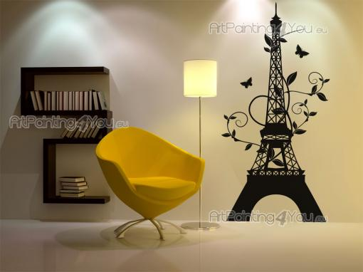 Cities & Travels Wall Stickers - Wall stickers for frequent travelers and architecture lovers. Have on a wall of your hall, living room or bedroom an original silhouette decal of the ...