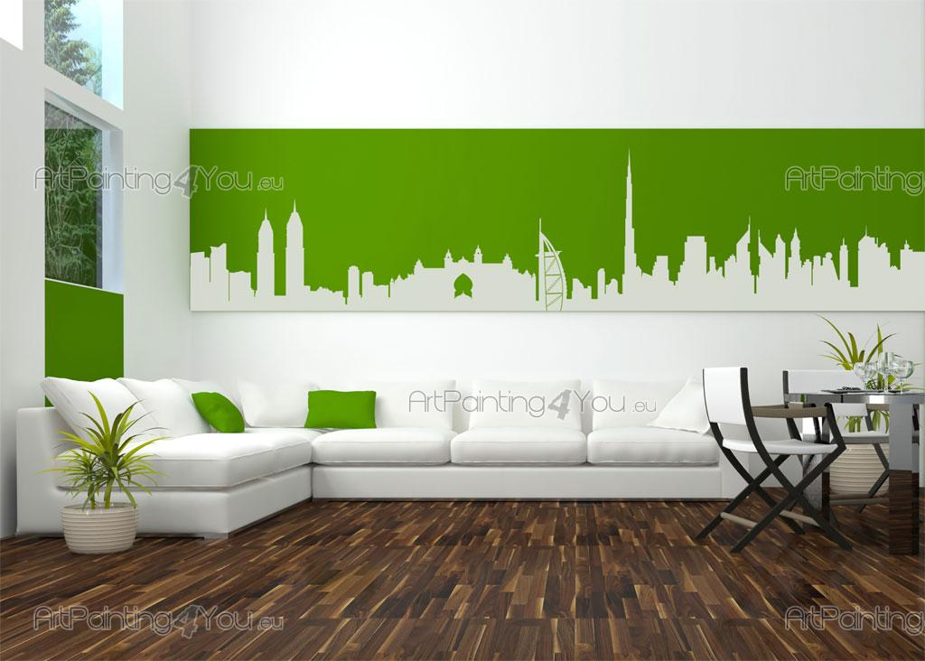 Dubai Skyline Wall Decals VDVen ArtPaintingYoueu - Wall decals dubai