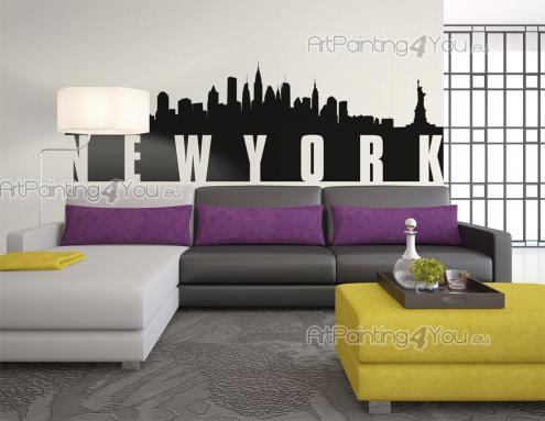 New York Skyline - Cities & Travels Wall Stickers