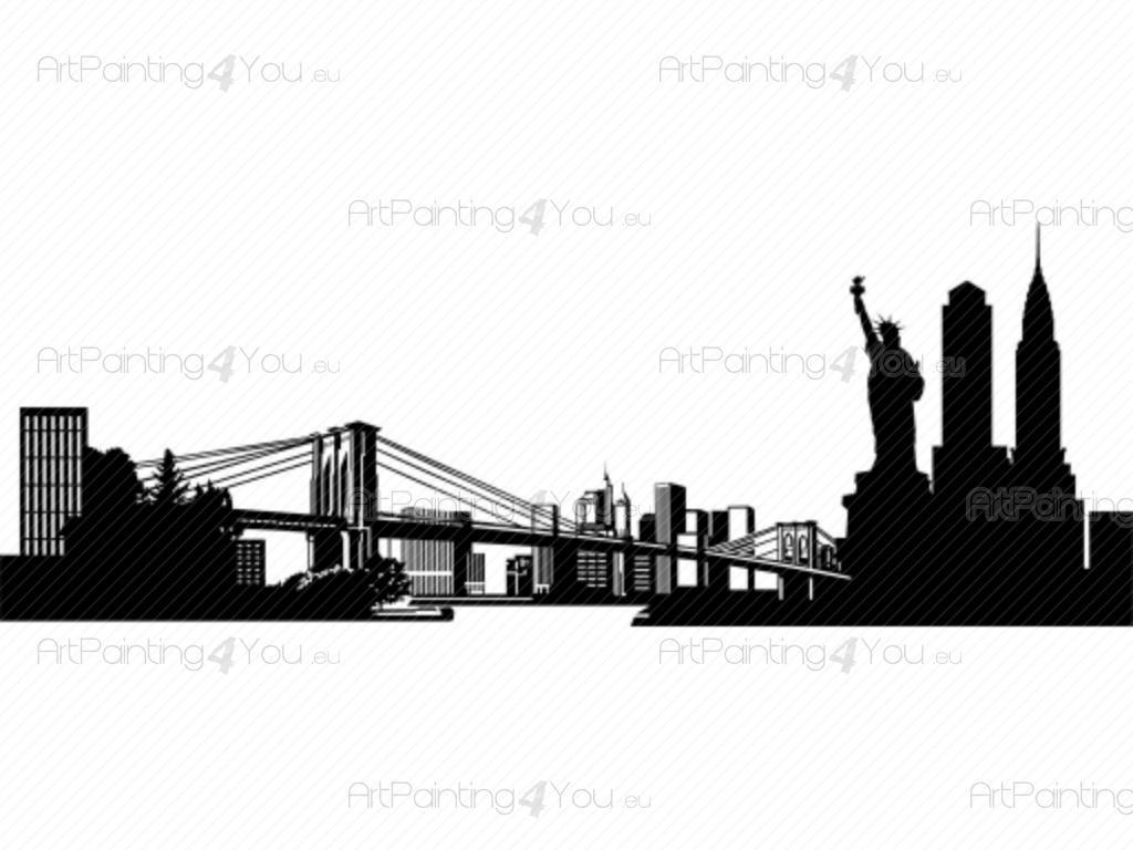 Bezaubernd Wandtattoo New York Sammlung Von Städte & Reisen - Wandtattoos Schlafzimmer Mit