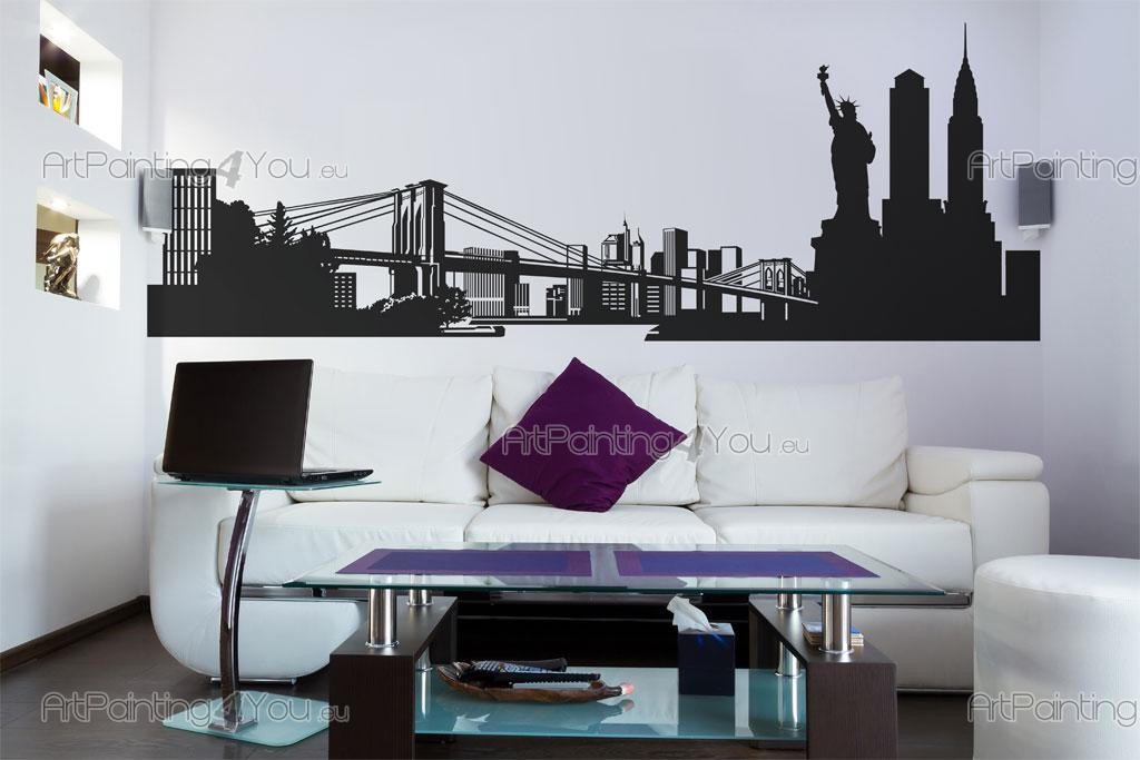 New york stickers muraux vdv1030fr for Chaise pour chambre adulte