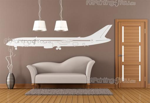 Airplane Silhouette - Cities & Travels Wall Stickers