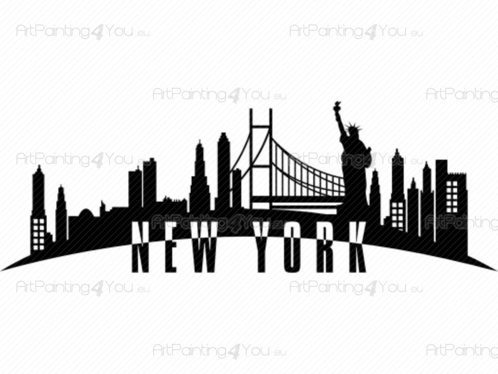 Have a bit of cosmopolitan charm New York Skyline - Wall decals of world skylines. Have a bit of cosmopolitan charm  sc 1 st  ArtPainting4You.eu & Wall Decals New York Skyline | ArtPainting4You.eu® | (VDV1035en)